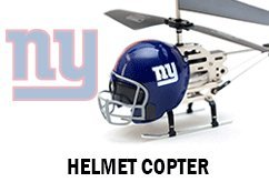 Helmet Helicopter with LED NFL Logo Projector Light - New York Giants