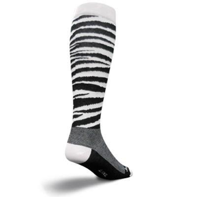 Buy Low Price SockGuy 12in Knee-Hi Zebra Cycling/Running Socks (B005TCA8OM)