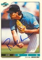 Robb Nen Florida Marlins 1996 Score Autographed Hand Signed Trading Card. by Hall+of+Fame+Memorabilia