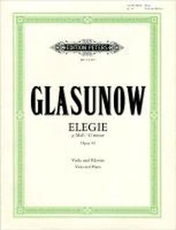 Elegie g-Moll op. 44: Für Viola und Klavier