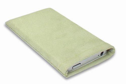 Janney [Lart]BAG Jelly grün Hülle Handyhülle aus Microfaserstoff für dein Anycool Enjoy W02