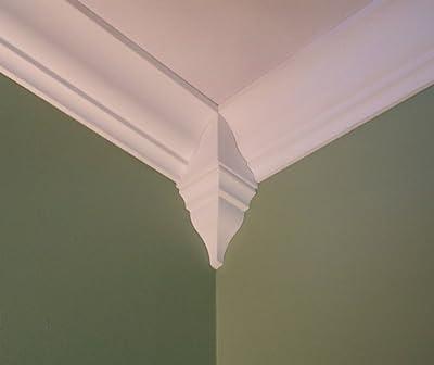 Package of 4 Crown Molding Corner Inside Block Fits 5 - 5 1/2 Inch Crown Molding by Crown Corners