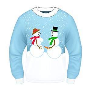 Christmas Sweater-- Ugly Christmas Sweater!!-- Christmas Costume-- Choose Your Style!! (Xlarge 48, Snow Couple)