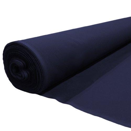 Polycotton Gaberchino Fabric 1 Metre, Quality Polyester Cotton Mix Fabric. Navy Blue