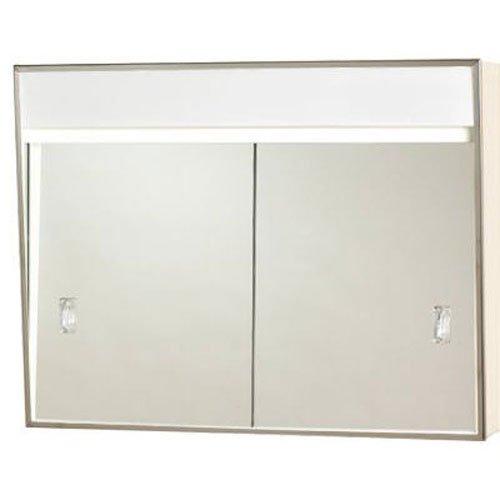 "701L Series Sliding Medicine Cabinet, 2 Light With Courtesy Outlet, 24"""