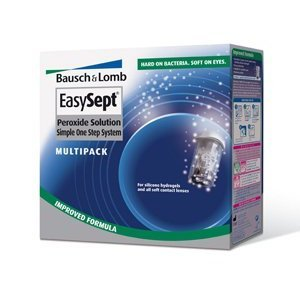 Bausch & Lomb Easysept Peroxide Solution Simple One Step Solution 3 Month Supply