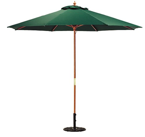 Oxford Garden 9-Foot Garden Market Umbrella, Green