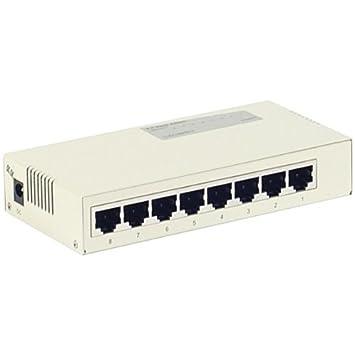 Switch Réseau Ethernet - 8 ports 10/100 Boitier METAL