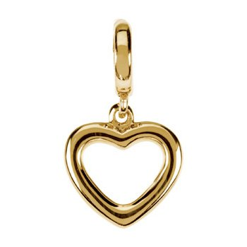Valentine Day Heart Charm from 14K Yellow Gold