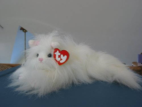 TY Attic Treasure - GENEVIEVE the White Cat - 1