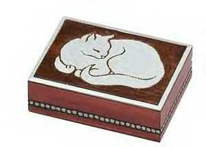 100's of Urns & Memorials for Dogs and Cats - Urn - Peaceful Cat Series - For Cats 1 to 13 lbs.