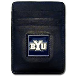 NCAA Brigham Young Cougars Leather Money Clip/Cardholder