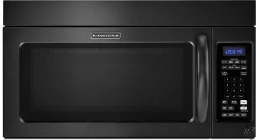 KitchenAid: KHMS2040WBL 2.0 cu. ft. Over-the-Range Microwave with 1,000 Watts, 300 CFM Hood and Popcorn Sensor: Black
