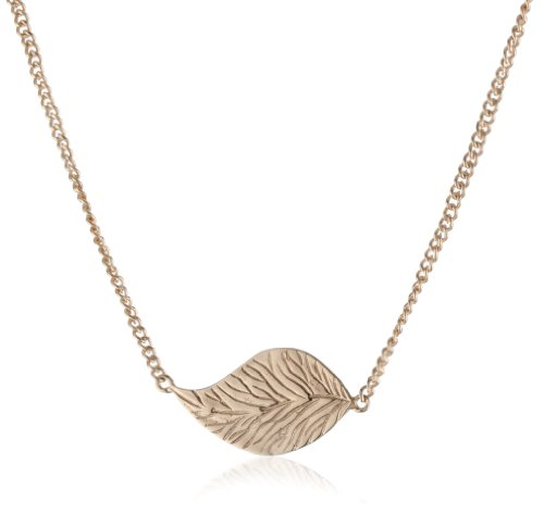 "MELINDA MARIA ""Leaf Collection"" 18k Rose Gold Baby Leaf Necklace"