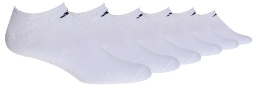 Adidas Men'S 6-Pack No Show Sock, White/Black, Size 6-12 back-979832