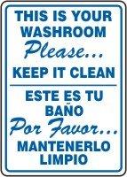 Bathroom Signs To Keep Clean keep bathroom clean signs