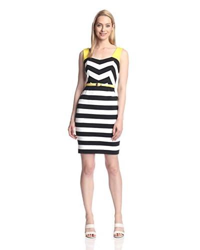 Nue by Shani Women's Striped Knit Dress