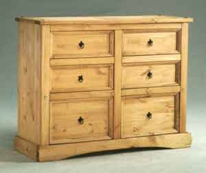 Corona 6 Drawer Double Wide Chest