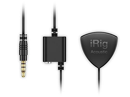 IK Multimedia iRig Acoustic Interfaccia Audio e Microfono per Strumenti Acustici per iPhone, iPad and Mac, Nero
