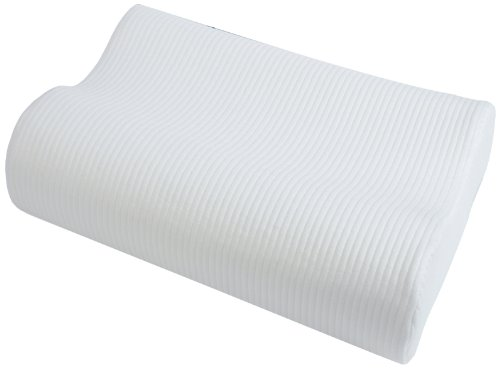 Sensorpedic Classic Contour Memory Foam Neck Pillow With Ventilated Icool Technology Standard, White front-649461