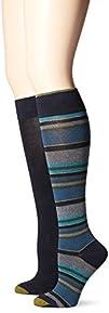 Gold Toe Womens Multi Stripe Knee High Sock Pack of 2