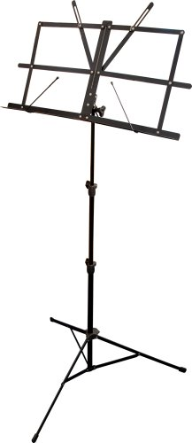 KC music stand black MS-200J/BK (for easy carrying with storage bag)