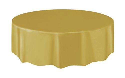 Cotillon d'alsace - Nappe plastique ronde 210 cm or