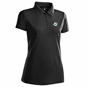 Miami Dolphins Ladies Pique Xtra Lite Polo Shirt (Team Color) by Antigua