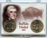 3″ x 2″ Snaplock Coin Holder for 2005 Buffalo Nickel Jefferson Nickels. (Without Coins)
