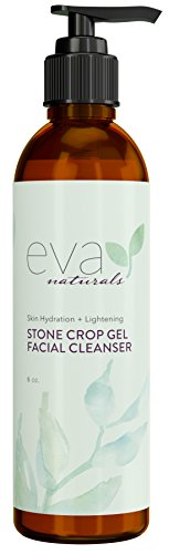 stone-crop-gel-facial-cleanser-by-eva-naturals-6-oz-natural-skin-lightener-reduces-dark-spots-and-pi