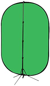 Fotodiox 5'x7' Collapsible Chromakey Green + Blue 2-in-1 Background Panel and Support Stand