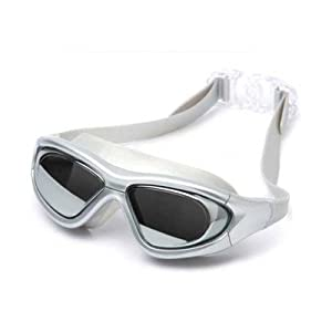 Leacco MC910 Adult Large Frame Waterproof Non-Fogging Anti UV Adjustable Swimming Goggles - 3 Colors