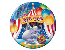 "CREATIVE CONVERTING Big Top Birthday 9"" Dinner Plates"