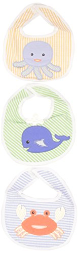 Baby Aspen, Beach Buddies 3-Piece Bib Gift Set, Blue/Green/Orange, 0-9 Months - 1