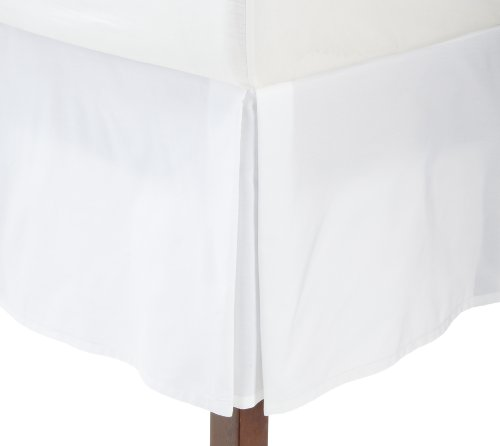 Find Bargain Fresh Ideas Tailored Poplin Bedskirt 14-Inch Drop King, White