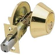 Steel Pro Single-Cylinder Deadbolt-PB CP 1CYL DEADBOLT
