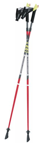 LEKI Nordic Walking Speed Pacer Vario T2 Poles (105cm), Outdoor Stuffs