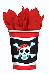 Amscan Pirate Party 9 oz Cups - 8 ct