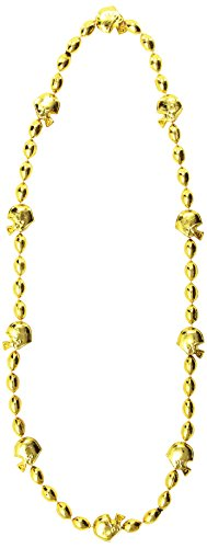 Football Beads (gold) Party Accessory  (1 count) (1/Card) - 1