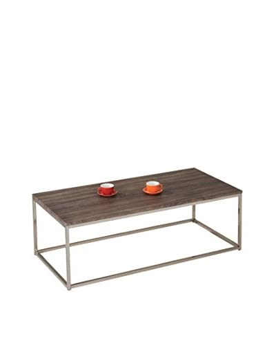 ACME Furniture Coffee Table, Walnut/Brushed Nickel