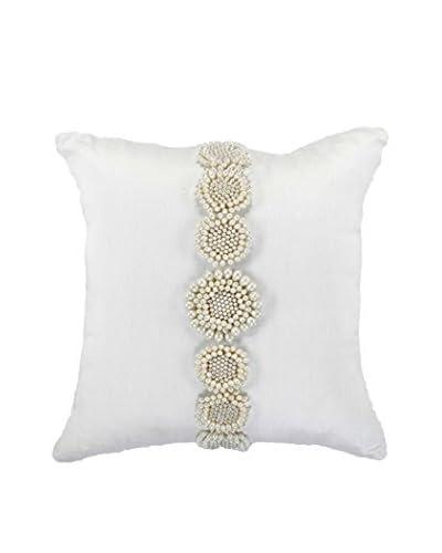 Bandhini Homewear Design Faux Pearl Cluster Throw Pillow, White/Cream