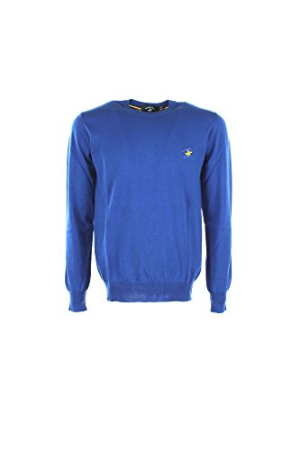 Maglia Uomo Beverly Hills Polo Club BHPC1681 Blu Primavera/Estate Blu Xl