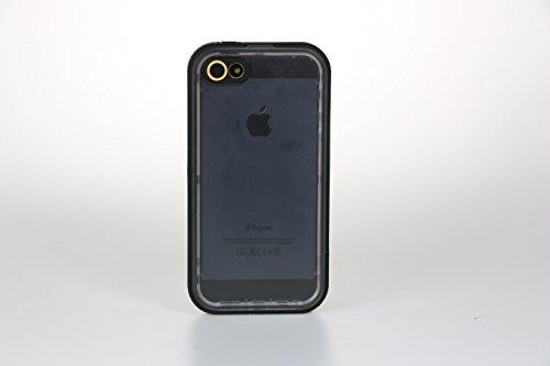 【全4色】IVSO オリジナルiPhone 6(4.7インチ) 専用上質PUレザーケース 完全防水・防塵・防磨耗 超薄型 最軽量 スマートフォンケース 専用防水防塵ケース 防水防雨防磨耗のシリーズ (ブラック)