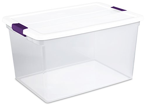 Sterilite 17578006 66 Quart/62 Liter ClearView Latch Box, White, 6-Pack (Large Storage Containers compare prices)