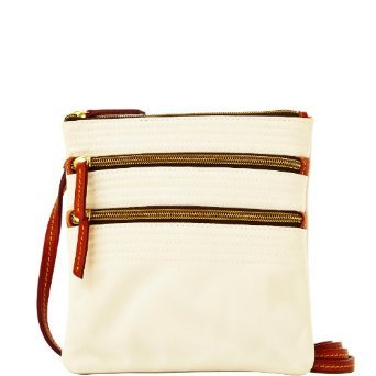 dooney-bourke-yj298-wh-triple-zip-white-crossbody