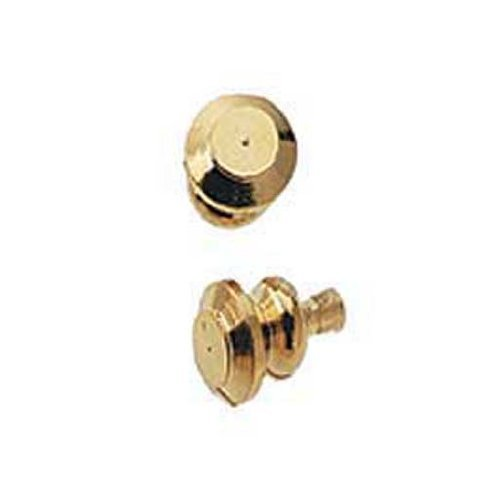 Dollhouse Miniature Gold Plated Brass Knob by Houseworks - 1