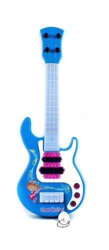 """Electric Kids Ultimate Rock Guitar Star Lights And Music Toy Guitar (Colors May Vary) Perfect For Your Little Rock Star! Electric Powered, Bright Vivid Colors! Length: 17.5"""" !"""