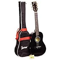 Lauren 30'' Steel String Acoustic Guitar Package - Metallic Black - (Blowout Sale - Limited Time!)