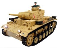Smoking RC 1/16 Tiger III Tauch Panzer III Ausf.H Electric Radio Control Airsoft Battle Tank with Sound