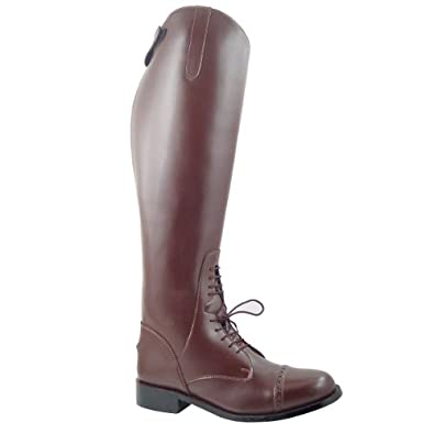 Victory Ladies Field Boots tall english riding Brown, Color:Brown Calf:XXWide, 10.5